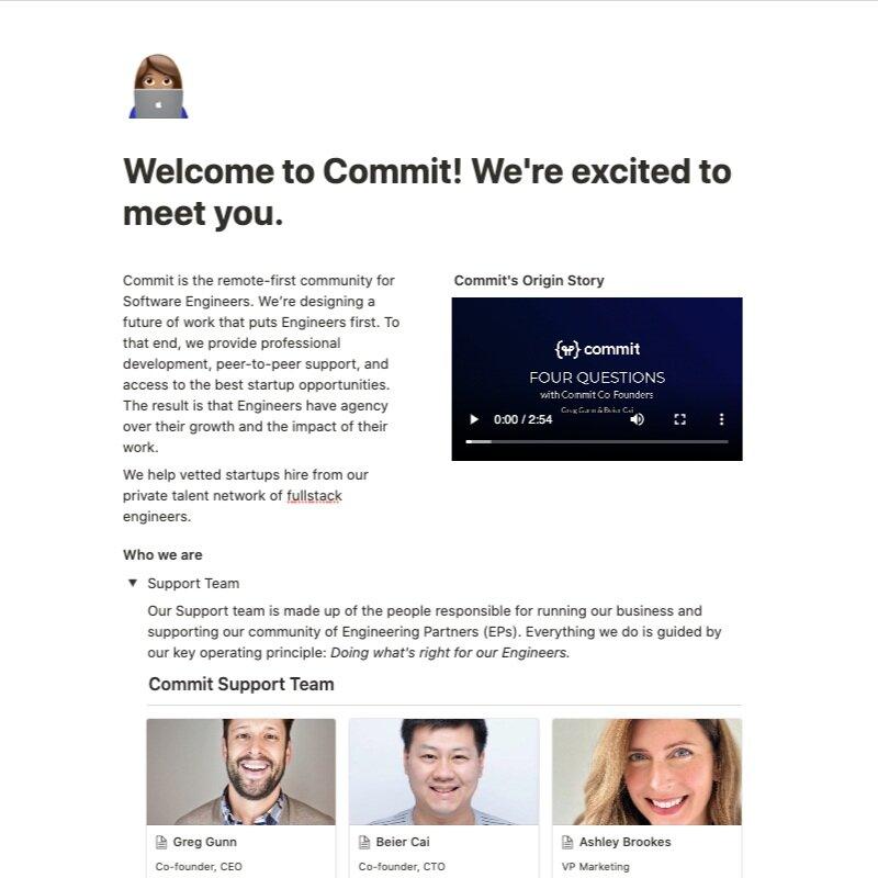 Commit Data Room