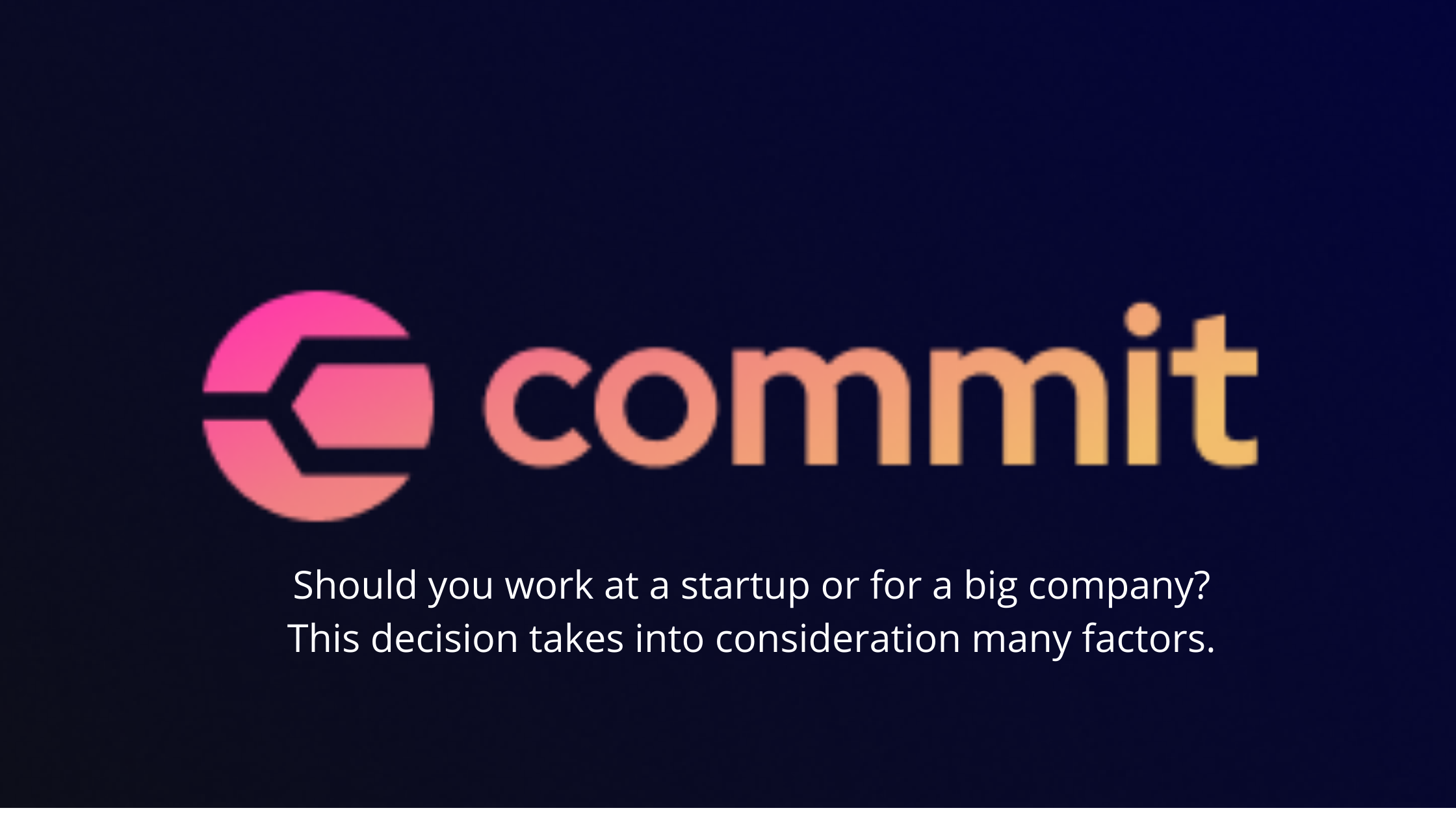 Commit Logo with highlight